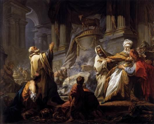 ירבעם מקריב לאלילים - ז'אן אונורה פרגונאר (1752)